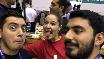 FoodStamp.Tech team clicking funny selfies at their Web Summit booth