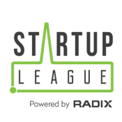 Startup League logo w powered by
